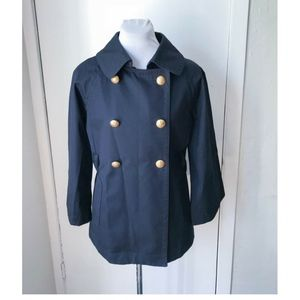 J. Crew Navy Double Breasted Peacoat - Size 8